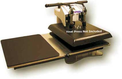 Geo Knight Shuttle Table for DK20S and DK20 heat press clamshell