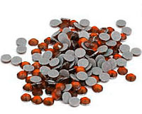 Orange Bulk  Rhinestones for Heat Transfer
