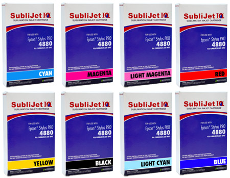 Epson 4880 Sublimation Ink - Sublijet IQ Cartridges