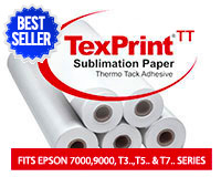 "Beaver TexPrint Thermo-Tack Sublimation Heat Transfer Paper 24""x275'"