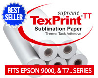 "Beaver TexPrint Supreme-Tack Sublimation Heat Transfer Paper 44""x328'"