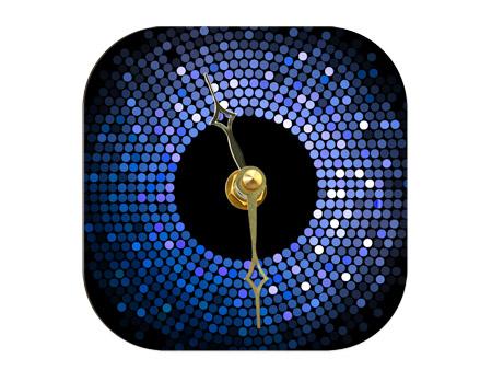 """Unisub Coaster Desk Clock - 4"""" Square"""