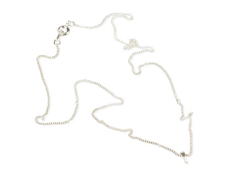 """Unisub Sterling Silver Plated Necklace with Bale - 18"""""""