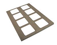 "Unisub Production Jig - For U5677 Coaster 3.75"" - Prints 8"