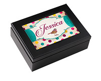 "Unisub Keepsake Box - Espresso Black 6""x8"" with 4""x6"" insert"