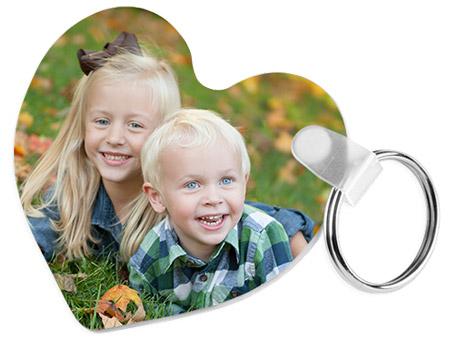 "Unisub 2.5"" Key Chain Heart FR Plastic"