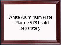 "Plaque Plate White 5""x7"" Aluminum, Gloss w/ Square Corners for Unisub 5781"