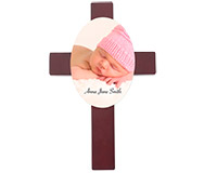 "Unisub 7""-11"" Cross Plaque with Oval Insert"