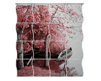 "Unisub Chromaluxe Gloss Clear 5.85""x5.85"" Photo Tile - Wavy"