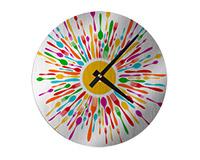 "Unisub Silver Aluminum Wall Clock - 8.125"" Round"