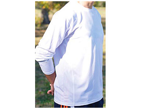 Vapor Apparel Mens Eco Running Crew Neck-Long Sleeve T Shirt