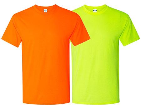 Vapor Apparel Mens Basic Safety Short Sleeve T Shirt