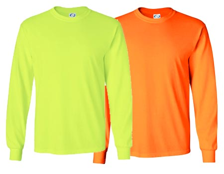 Vapor Apparel Mens Basic Safety Long Sleeve T Shirt