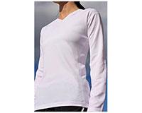 Vapor Apparel Ladies Eco Running V Neck Long Sleeve Shirt