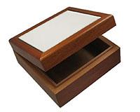 """Alderwood Deluxe Hinged Box - Holds 4.25"""" Tile"""