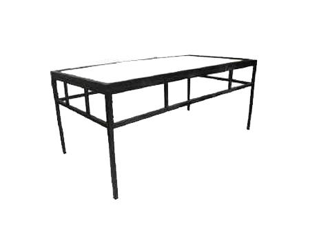 "Black Metal Coffee Table for 18 - 6"" tiles"