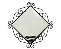 "Metal Frame For 6"" Tile with Candle Holder"