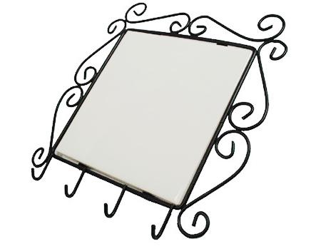 """Metal Frame For 6"""" Tile with Key Holder"""