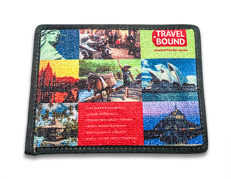 """Sublimation Floor Mat 15.5""""x19.5"""" Tufted Loop Material, Bound Edges"""