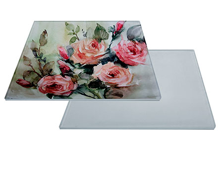 "Glass Sublimation Tile 6""x6"" with White Backing"