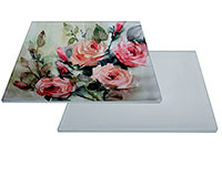 """Glass Sublimation Tile 4.25""""x4.25"""" with White Backing"""
