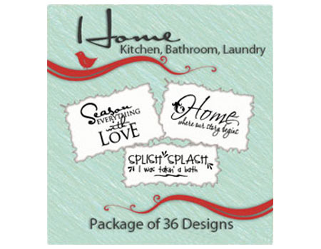 Vinyl Ready Designs Home Package - 36 Designs