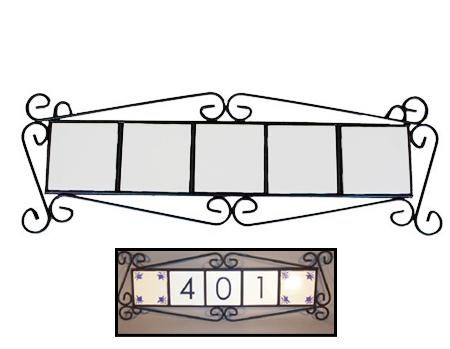"""Iron House Hanger For 5 - 4.25"""" Tiles"""