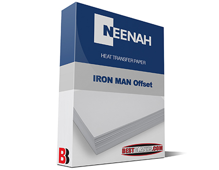 Neenah Iron Man Light 8.5x11 Heat Transfer Paper For Offset Printers only