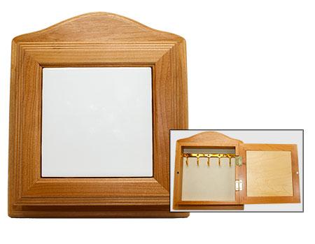 """Wood Key storage Box - Holds 4.25"""" Tile"""