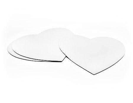 Blank Heart Mouse Pad