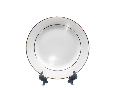 """Sublimation Plate with Gold Rim - 8"""""""