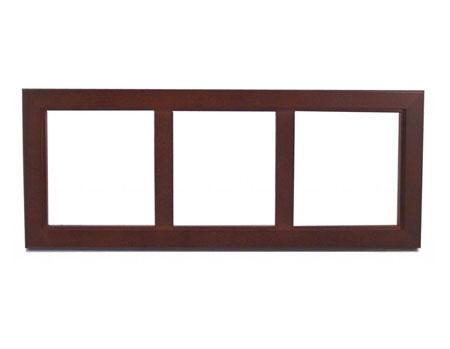 """Rosewood Trivet Frame - Holds 3 - 6"""" Tiles"""