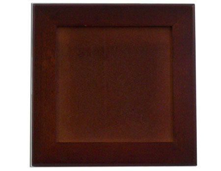 "Black Wood Trivet Frame - Holds 6"" Tile"