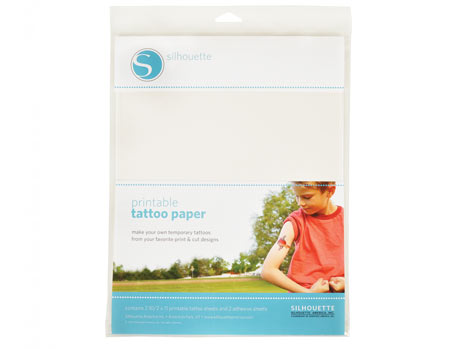 Silhouette Specialty Media Temporary Tattoo Paper