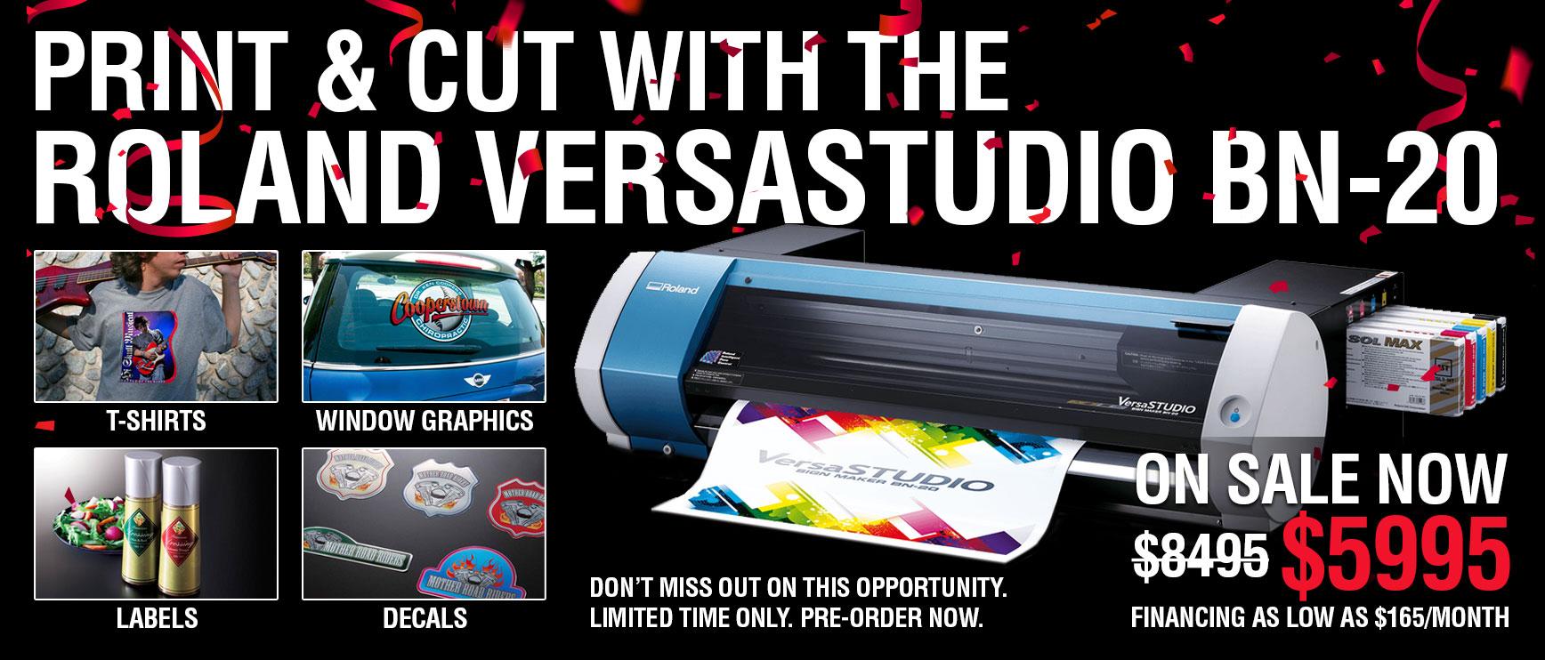 Print & Cut With The Roland VersaStudio BN-20