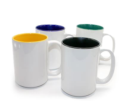 Two Tone Ceramic Sublimation Coffee Mug 15oz