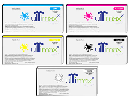UltiMaxx DTG Ink For AnaJet/MelcoJet, 220ML Cartridges