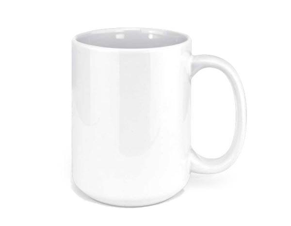 White Ceramic Sublimation Coffee Mug 15oz