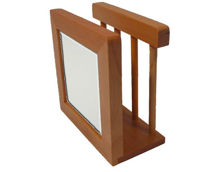 "Wood Napkin Holder - Holds 4.25"" Tile"